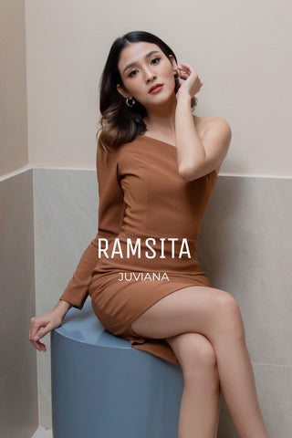 Juviana Dress Copper Brown