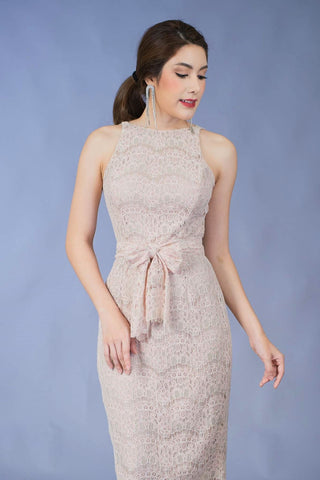 Amarath Lace Dress - Beige