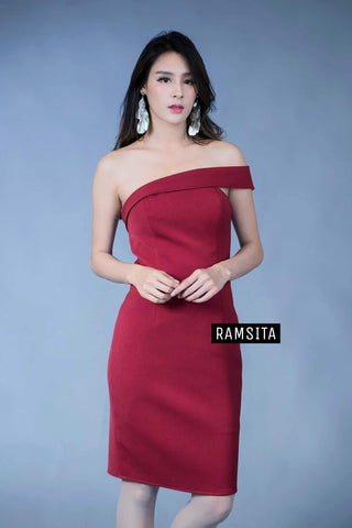 Parasaya Dress - Burgundy