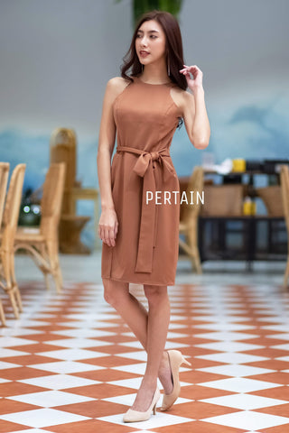 Hanaze Dress Mocca Brown