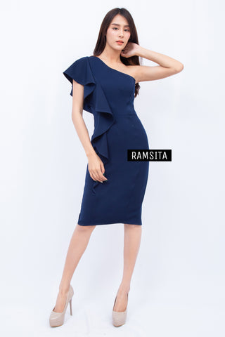 Ananya Dress Navy Blue