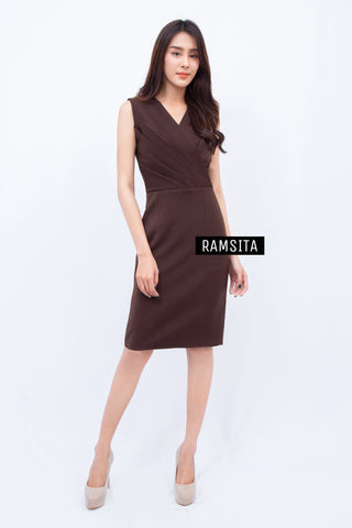Ramsita Precika Dress Brown