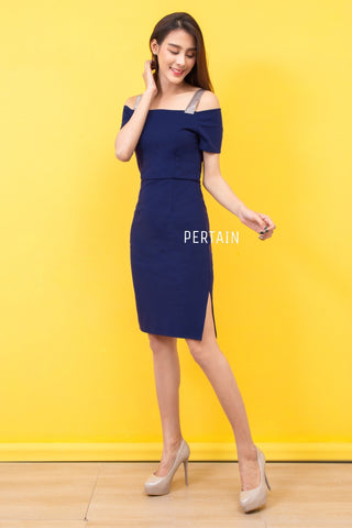 Jarina Dress Navy Blue