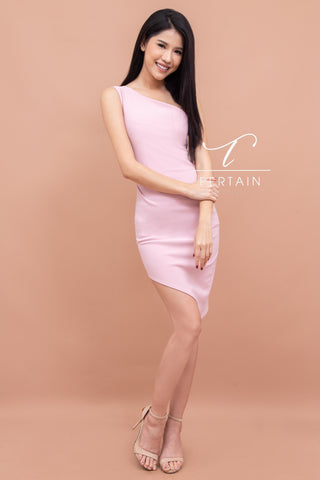 Armela One Shoulder Dress - Pink
