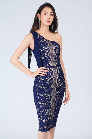 Armela One Shoulder Lace Dress