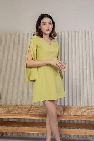 Eliza Dress Green Pastel
