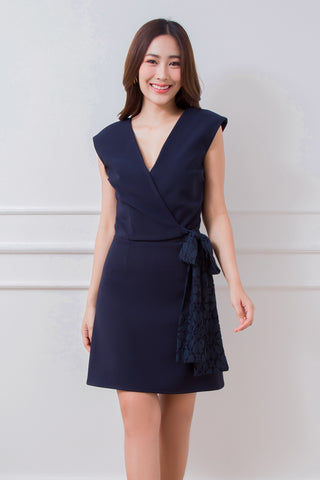 Araya Dress Navy Blue
