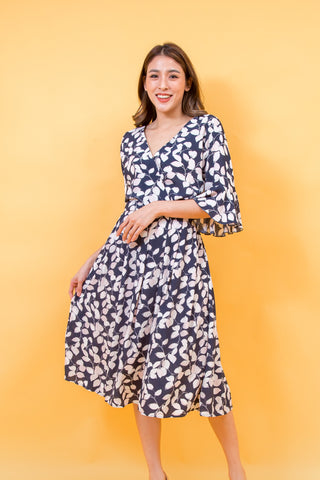 ARANYA MIDI DRESS NAVY BLUE