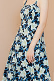 Sista Box Allison Midi Dress (Navy Tone)