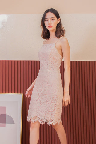 Darla Lace Dress Beige
