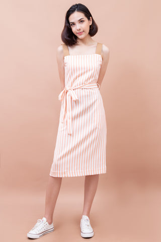 Mananya Stripe Dress - Corol