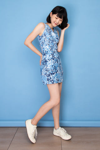 Purisa Mini Dress - Blue