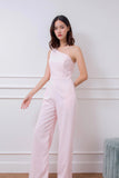 Arisa One Shoulder Jumpsuit Pink