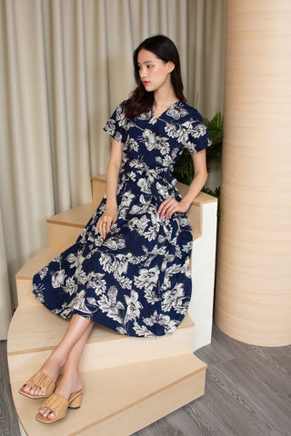 Sista Box Gianna Midi Dress (Navy Tone)