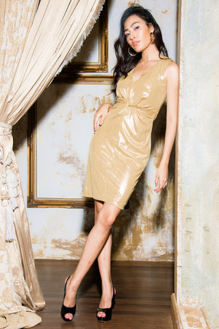 Fiona Dress Gold Yellow