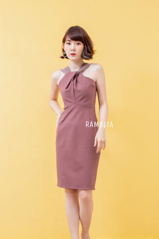 Arika Dress Brown
