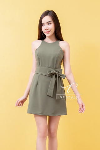 Ramiz Dress Olive Green