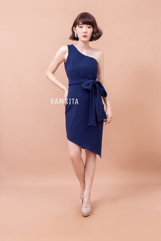 Armela B Dress - Navy Blue