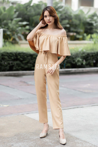 AMANDA JUMPSUIT CREAM GOLD
