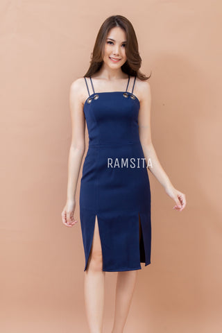 Waranya Dress Navy Blue