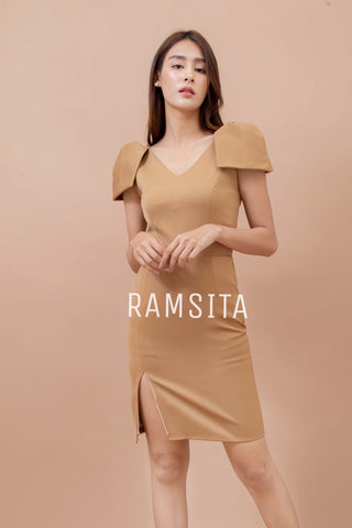 PARICHANA DRESS - KHAKI GOLD