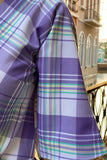 PARADA PLAID MAXI DRESS LAVENDER PURPLE
