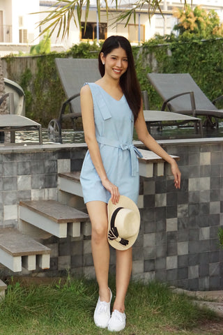 Sista Box Christy Dress Blue