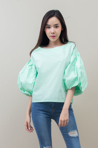PITCHANA BALLOON TOP - MINT