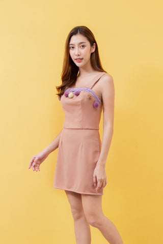 Pertain Tadashi Dress Beige
