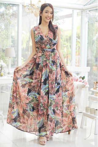 Sirene Maxi Dress Floral Multi Color