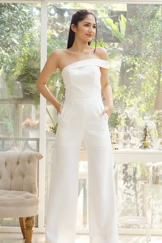 Elena Jumpsuit Off White