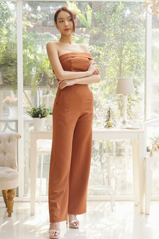 Elena Jumpsuit Brown
