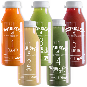 An image of 5 Day Juice Cleanse | Cold Pressed Detox Diet Drinks | Nutriseed 5-Day Cleanse (...