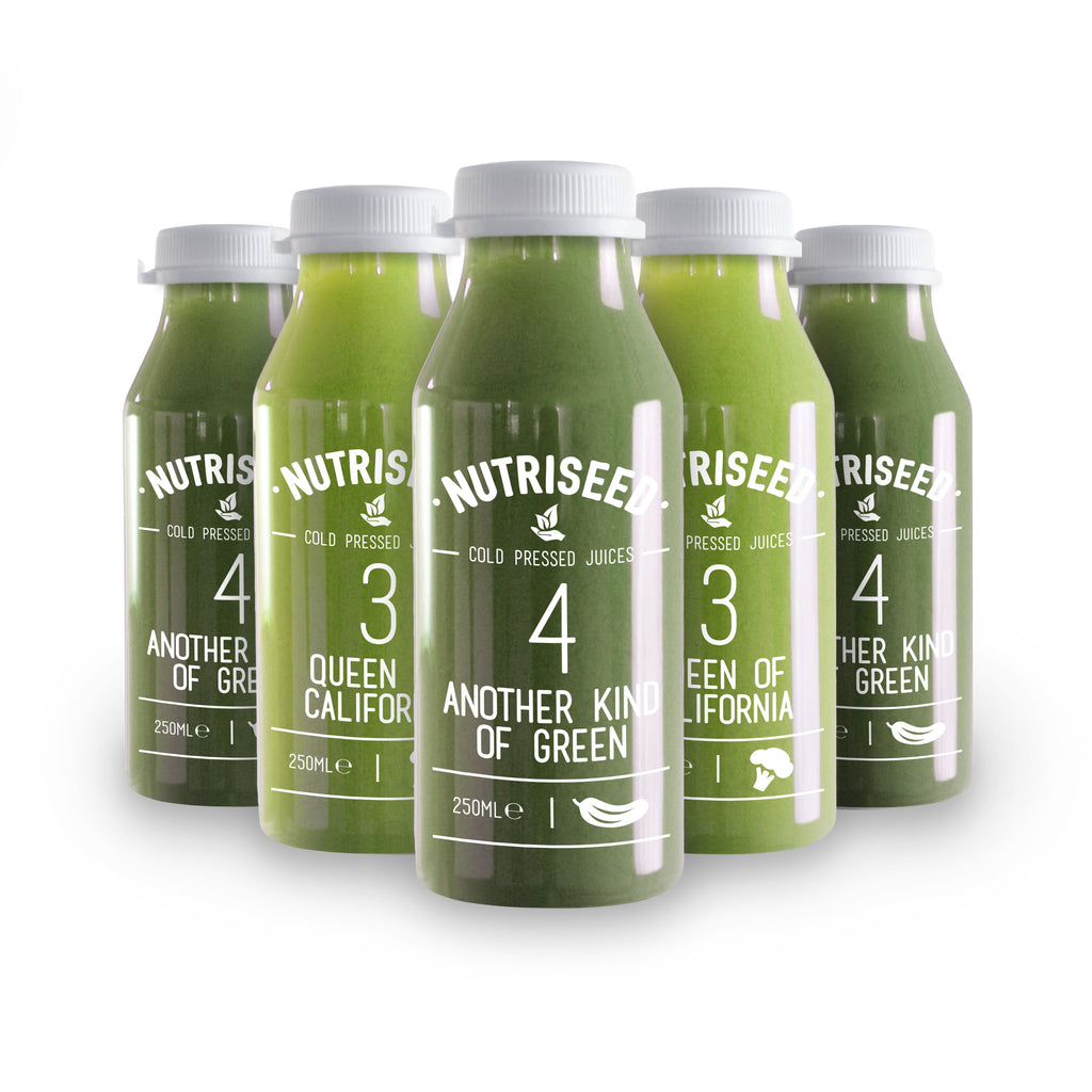 An image of All Green Juice Cleanse 3 Day Cold Pressed Detox Diet Drinks - 15 Juices