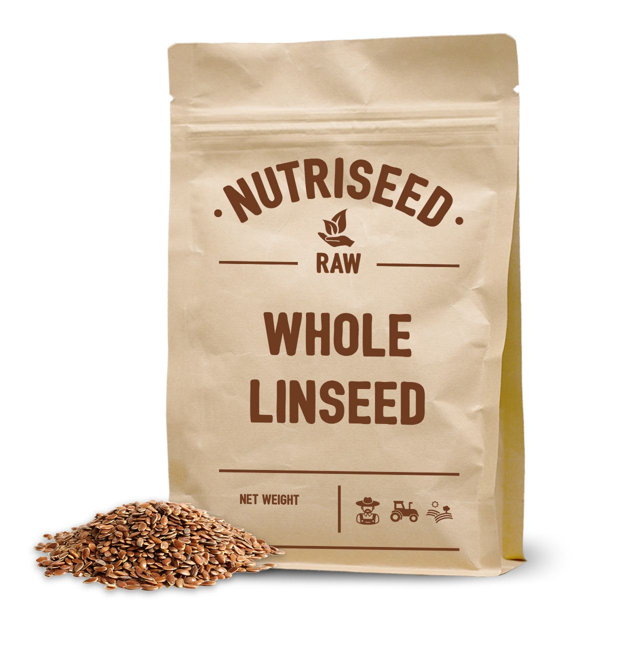 An image of Whole Brown Linseed / Flaxseed - 250g Linseed, Golden Linseed, Linseed Seeds, Or...