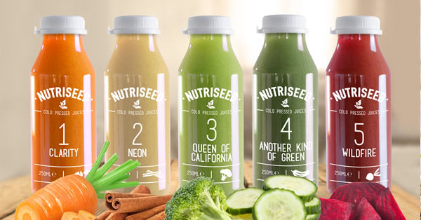 An image of Juice Cleanse 1 Day Cold Pressed Detox Diet Drinks - 5 Juices