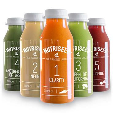 An image of Juice Cleanse 1 Day Detox Drinks - 5 Cold Pressed Juices 1 Day Diet Cleanse - 5 ...