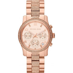 Michael Kors MK5827 Ladies Rose Gold Tone Chronograph Watch - TheWatchCabin - 1