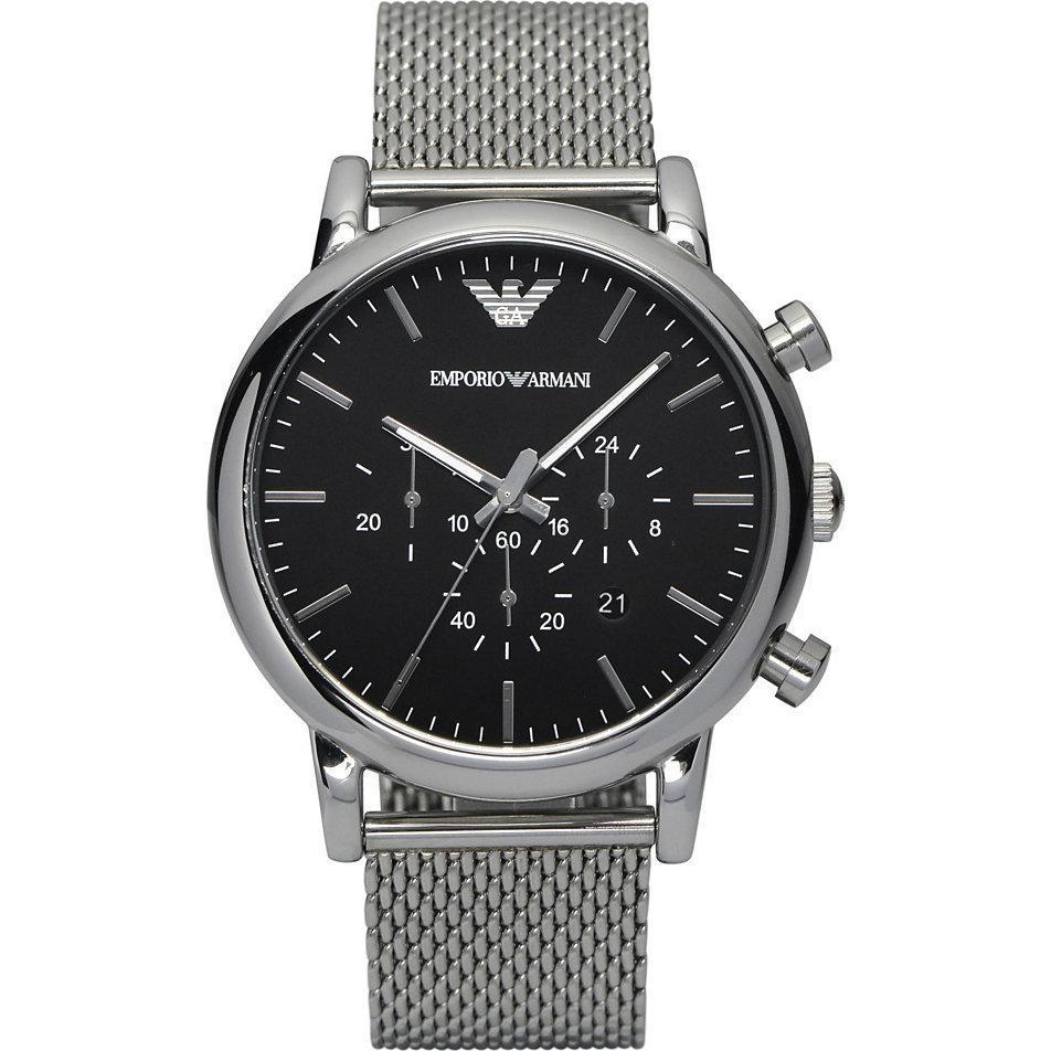 09fd4de8c Emporio Armani AR1808 Men's Mesh Chronograph Watch – The Watch Cabin