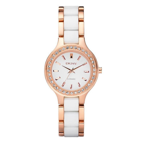 DKNY NY8141 Ladies Chambers Ceramic Watch - TheWatchCabin - 1