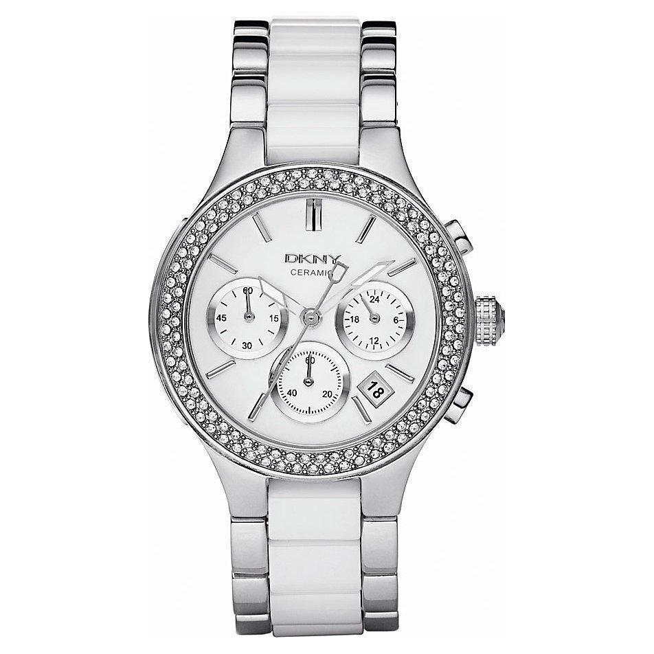 DKNY NY8181 Ladies Chamber Ceramic Chronograph Watch - TheWatchCabin - 1