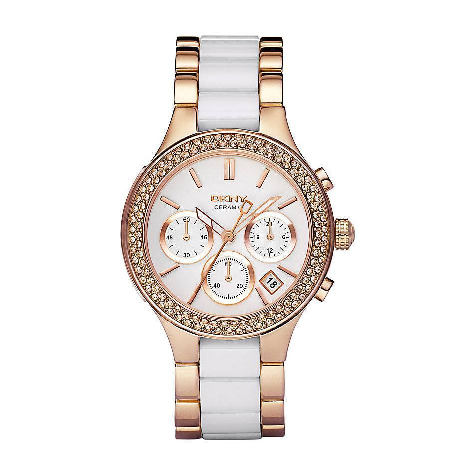 DKNY NY8183 Ladies Chambers Ceramic Chronograph Watch - TheWatchCabin - 1