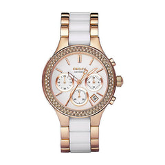 DKNY NY8183 Ladies Chambers Ceramic Chronograph Watch