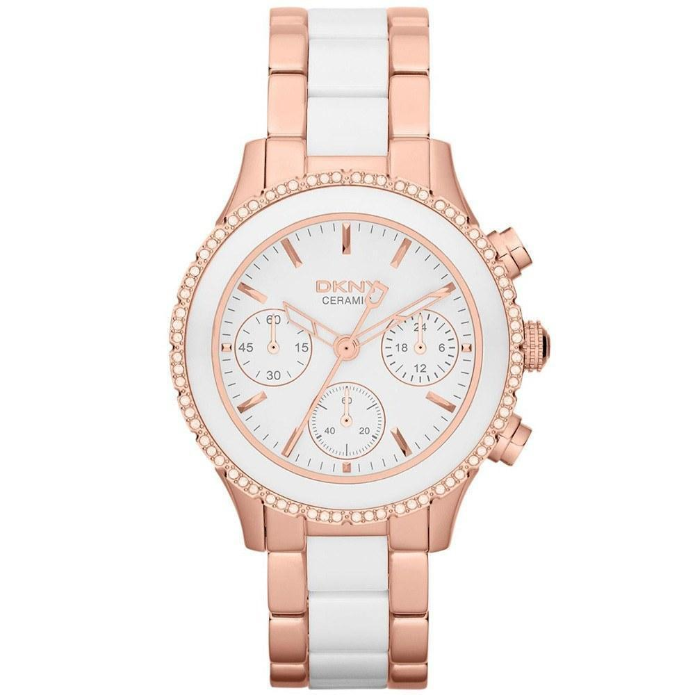 DKNY NY8825 Ladies Chambers Ceramic Watch - TheWatchCabin - 1