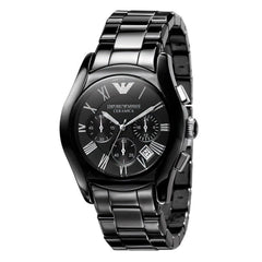 Emporio Armani AR1400 Men's Valente Ceramica Ceramic Chronograph Watch