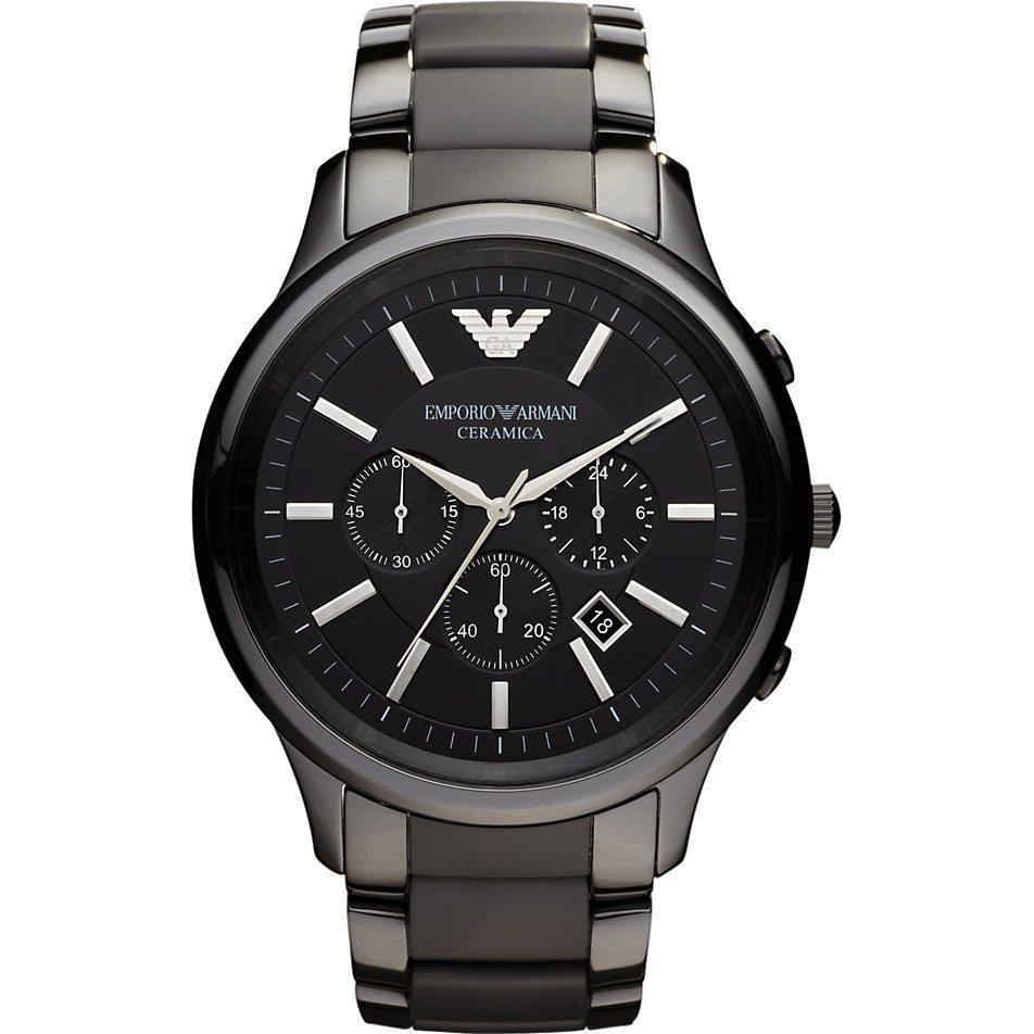 Emporio Armani AR1451 Men's Ceramica Ceramic Chronograph Watch - TheWatchCabin - 1