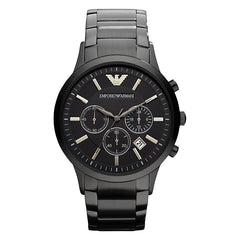 Emporio Armani AR2453 Men's Black Chronograph Watch - TheWatchCabin - 1