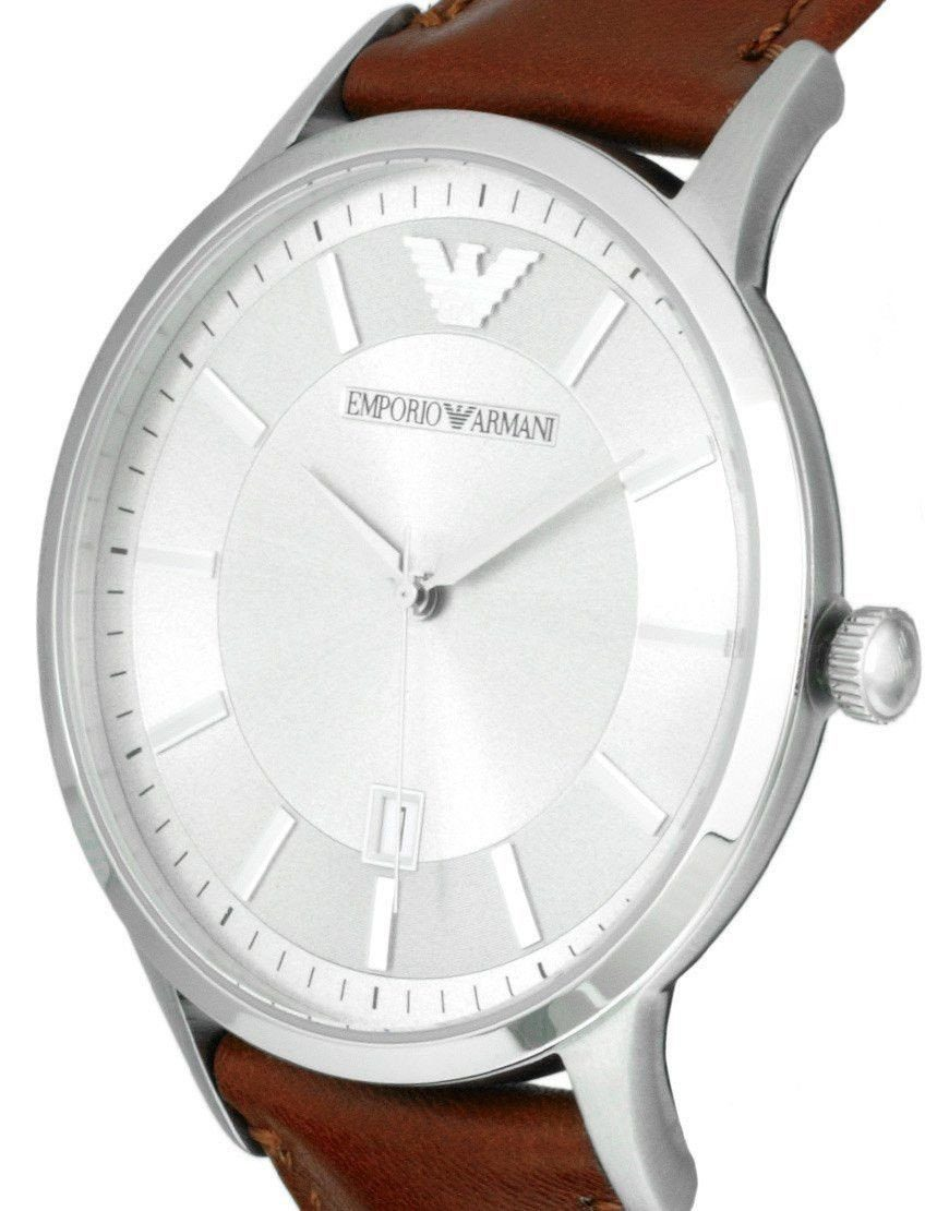 Emporio Armani AR2463 Mens Renato Grey Brown Watch
