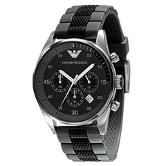 Emporio Armani AR5866 Men's Black Chronograph Watch - TheWatchCabin - 1