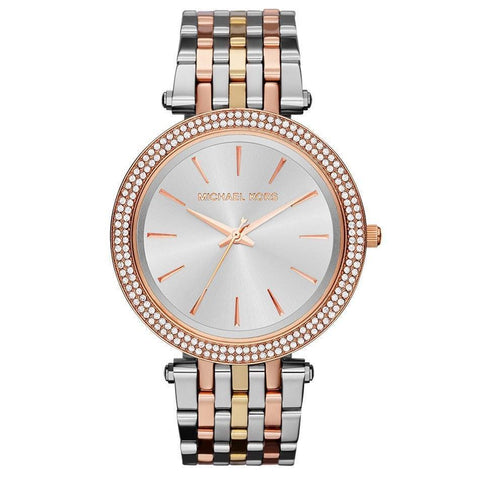 Michael Kors MK3203 Ladies Darci Tri-Colour Crystal Watch - TheWatchCabin - 1